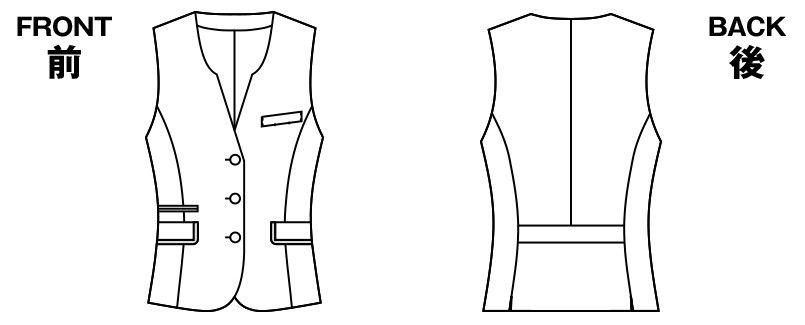 アルファピア AR2844 [通年]エレガントチェックベスト ハンガーイラスト・線画