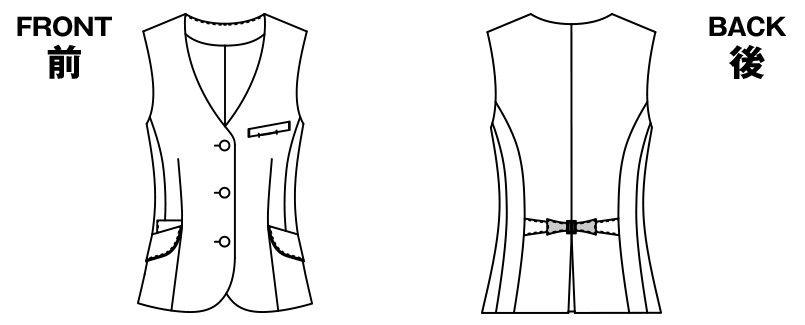 アルファピア AR2849 ベスト チェック ハンガーイラスト・線画