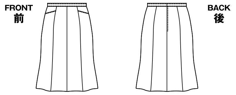 AR3433 アルファピア [秋冬用]マーメイドスカート ファンシーバーズアイ 無地 ハンガーイラスト・線画
