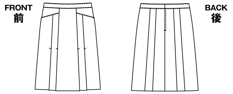 AR3452 アルファピア [秋冬用]Aラインスカート 無地 ハンガーイラスト・線画