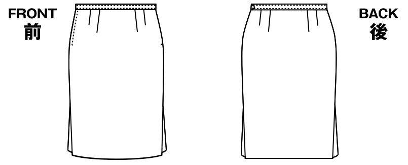AR3615R アルファピア [秋冬用]Aラインボックスプリーツスカート ツイル 無地 ハンガーイラスト・線画