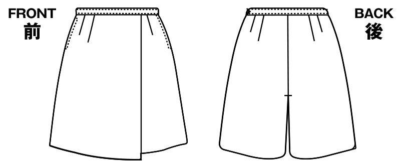 AR3619R アルファピア [秋冬用]キュロット ツイル 無地 ハンガーイラスト・線画