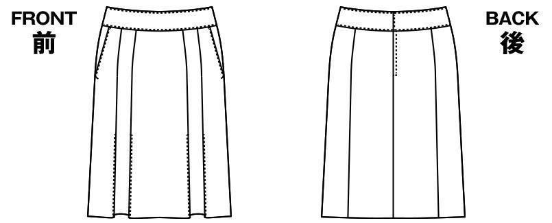 AR3669 アルファピア [通年]プリーツスカート ストライプ ハンガーイラスト・線画