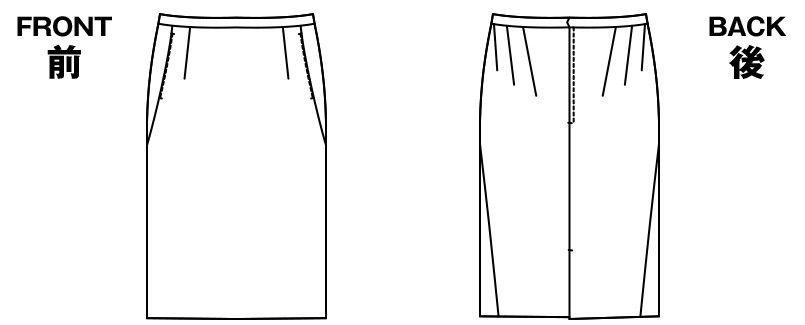 [在庫限り/返品交換不可]AR3821 アルファピア [秋冬用]タイトスカート 無地 ハンガーイラスト・線画