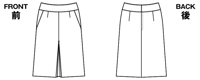 AR3831 アルファピア [通年]Aラインスカート エコ・ライラックドビー チェック ハンガーイラスト・線画