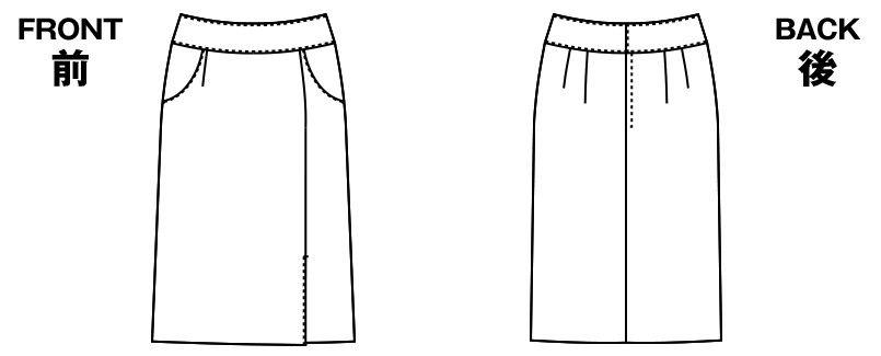 AR3832 アルファピア [秋冬用]タイトスカート 無地[防シワ加工] ハンガーイラスト・線画