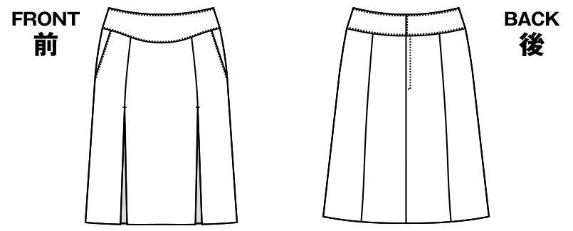 アルファピア AR3844 [通年]Aラインスカート ミニヘリンボーン<54㎝> ハンガーイラスト・線画