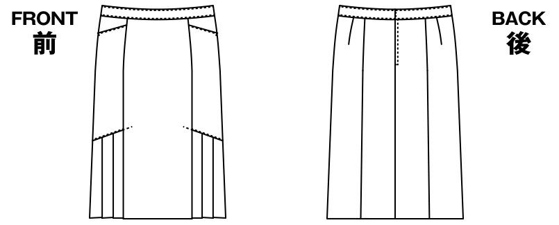 AR3847 アルファピア [通年]セミタイトスカート ストライプ[防シワ商品] ハンガーイラスト・線画
