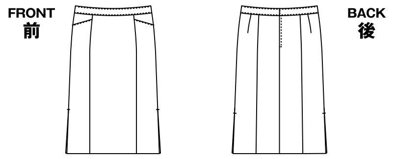 AR3849 アルファピア セミタイトスカート トレビラ・センシュアス 無地 ハンガーイラスト・線画