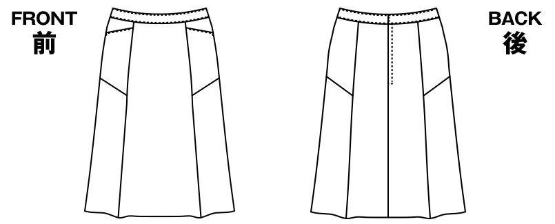 AR3850 アルファピア [通年]セミフレアースカート トレビラ・センシュアス 無地 ハンガーイラスト・線画