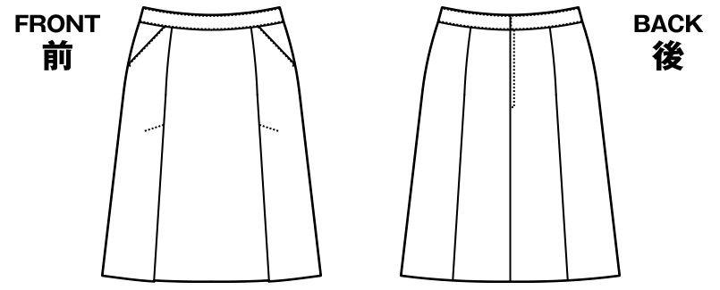 AR3854 アルファピア [通年]Aラインスカート ハイテンション・シャドーストライプ ハンガーイラスト・線画