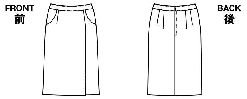 [在庫限り/返品交換不可]AR3859 アルファピア [通年]タイトスカート スパイラルカルゼ 無地 ハンガーイラスト・線画