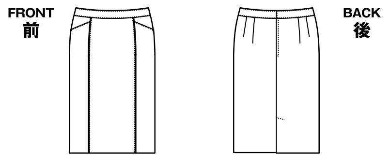 [在庫限り/返品交換不可]AR3861 アルファピア [通年]タイトスカート スパイラルストライプ[調温湿加工生地] ハンガーイラスト・線画