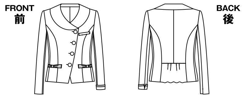AR4453 アルファピア [秋冬用]ジャケット ツイード ハンガーイラスト・線画
