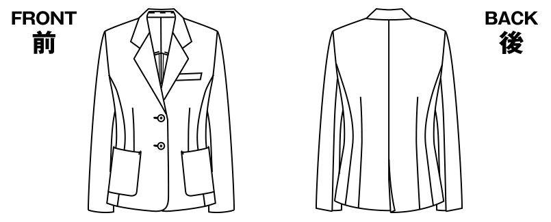 AR4615R アルファピア ジャケット ツイル 無地 ハンガーイラスト・線画