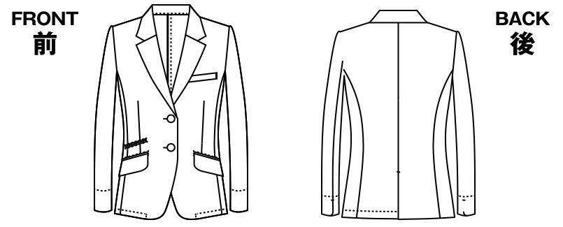 AR4668 アルファピア [秋冬用]ジャケット ストライプ ハンガーイラスト・線画