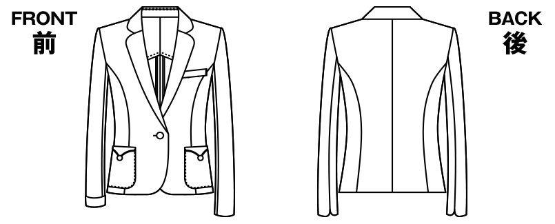 アルファピア AR4675 [春夏用]マリンテイスト・ジャケット [無地/ストレッチ/吸汗速乾] ハンガーイラスト・線画