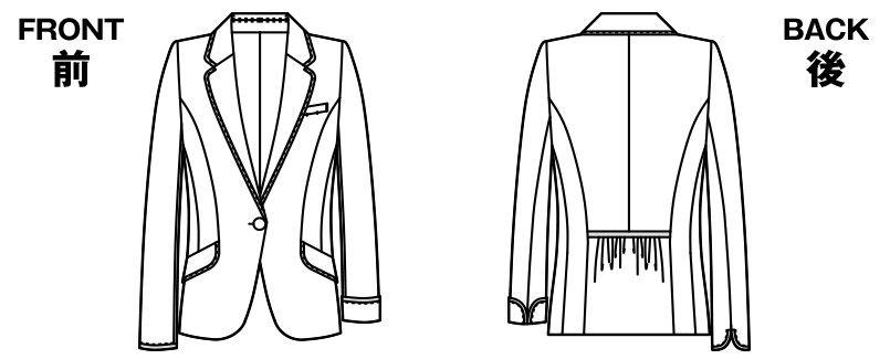 [在庫限り/返品交換不可]AR4677 アルファピア [春夏用]ジャケット リセアスラブツイード(防汚) ハンガーイラスト・線画