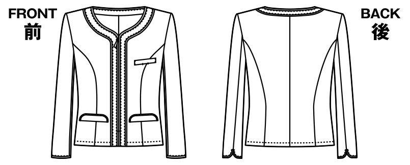 [在庫限り/返品交換不可]AR4678 アルファピア [春夏用]ジャケット リセアスラブツイード(防汚) ハンガーイラスト・線画