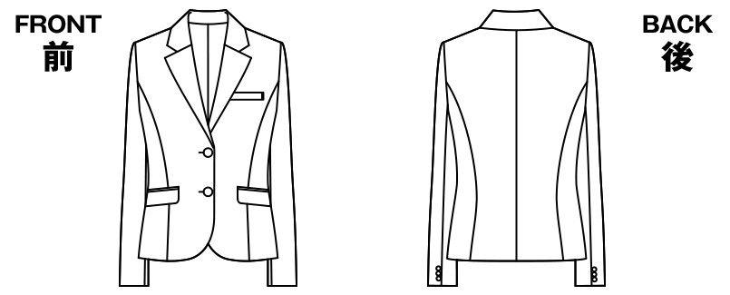 [返品交換不可/在庫限り]AR4808 アルファピア ジャケット 無地 ハンガーイラスト・線画