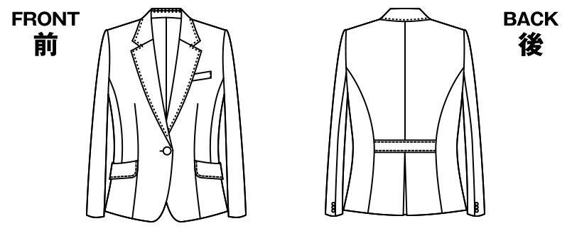 AR4814 アルファピア [秋冬用]ジャケット ダブルフェイス シャドーストライプ ハンガーイラスト・線画