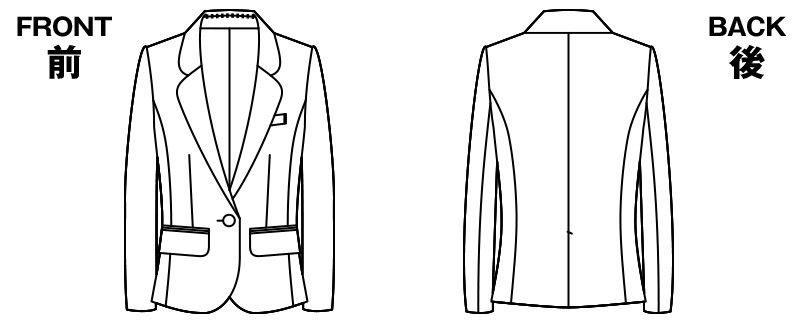 AR4819 アルファピア ジャケット シシリアン・ストライプ ハンガーイラスト・線画