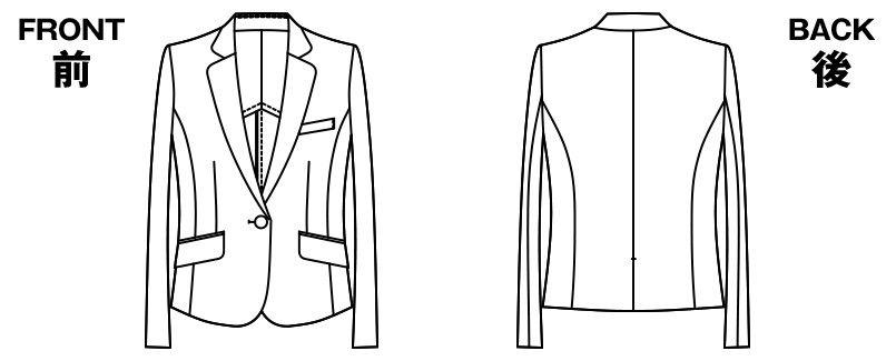 [在庫限り/返品交換不可]AR4821 アルファピア [通年]ジャケット 無地 ハンガーイラスト・線画
