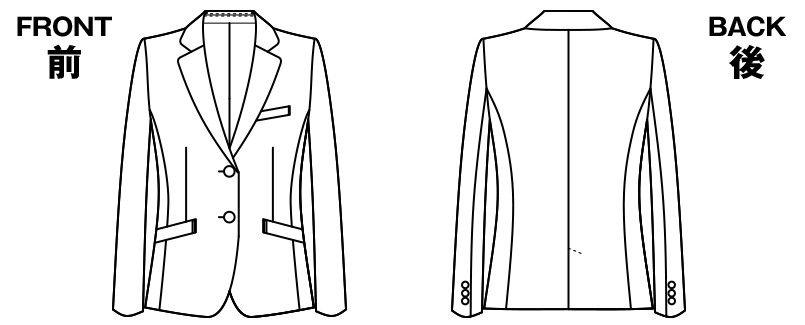 アルファピア AR4823 [通年]美シルエットのテーラードジャケット [無地] ハンガーイラスト・線画