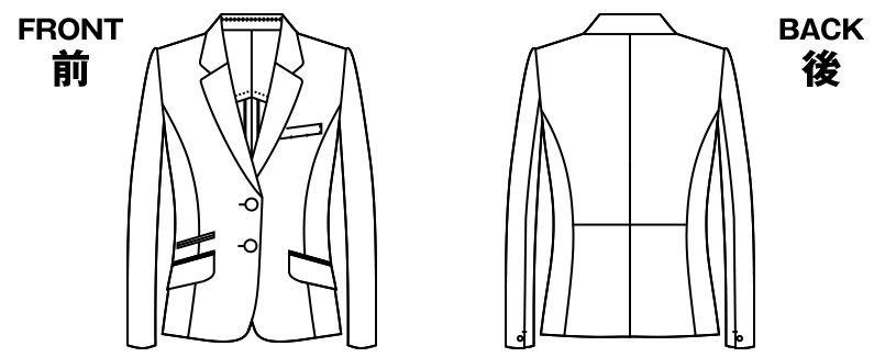 AR4842 アルファピア [秋冬用]ジャケット ミニヘリンボーン ハンガーイラスト・線画