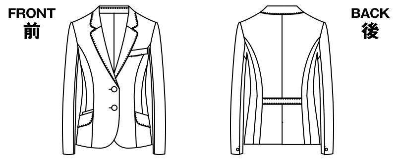 AR4847 アルファピア [通年]ジャケット ストライプ[防シワ商品] ハンガーイラスト・線画