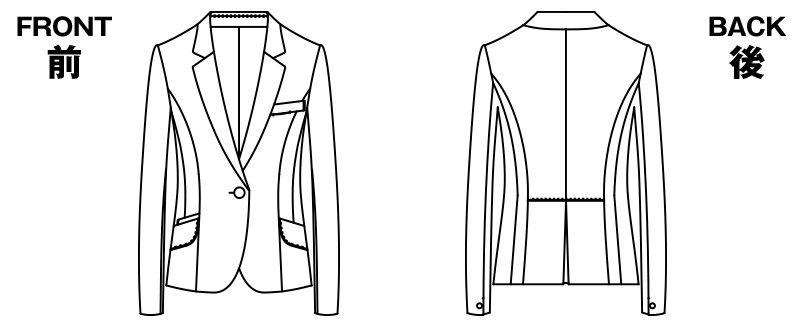 AR4849 アルファピア [通年]ジャケット 無地 ハンガーイラスト・線画
