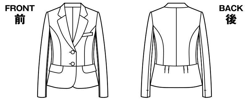 [在庫限り/返品交換不可]AR4856 アルファピア ショートジャケット スタイリッシュ・ファインニット 無地 ハンガーイラスト・線画