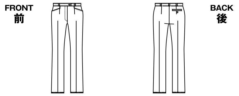 AR5607R AR5608R アルファピア パンツ(ジャストウエスト) ソロスパントロピカル 無地 ハンガーイラスト・線画