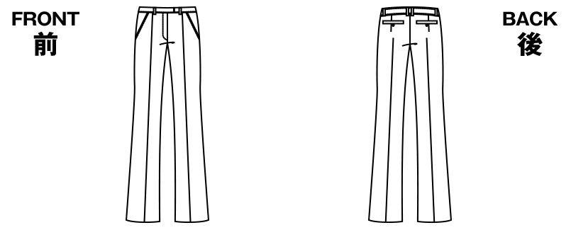 アルファピア AR5808 [通年]ブーツカットシルエットのパンツ[無地] ハンガーイラスト・線画