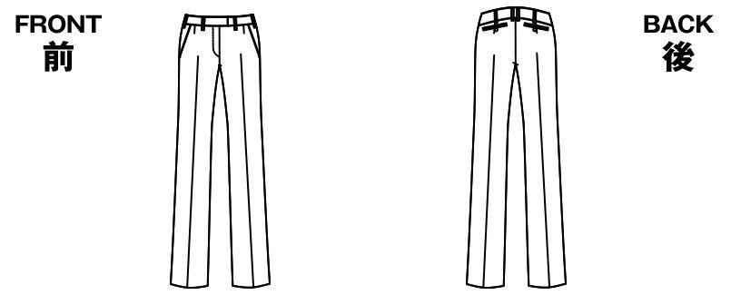 アルファピア AR5814 [通年]セミワイドパンツ [シャドーストライプ] ハンガーイラスト・線画