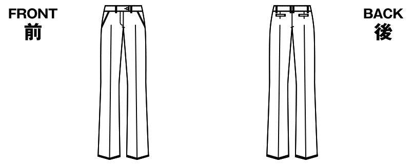 [在庫限り/返品交換不可]AR5821 アルファピア [通年]パンツ 無地 ハンガーイラスト・線画