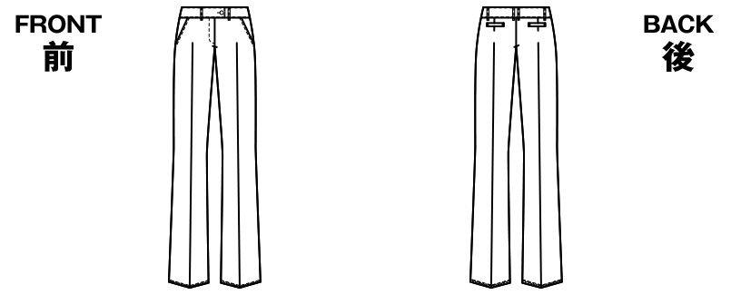 アルファピア AR5823 [通年]プチローライズ・パンツ [無地] ハンガーイラスト・線画