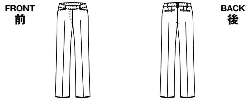 アルファピア AR5851 [通年]センタープレス、ストライプ・パンツ [防シワ商品] ハンガーイラスト・線画