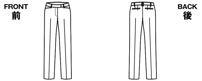 [在庫限り/返品交換不可]AR5859 アルファピア [通年]パンツ プチローライズ 無地[調温湿加工生地] ハンガーイラスト・線画