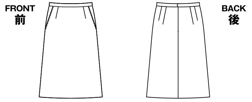 アルファピア UF3510 [秋冬用]スタンダードAラインスカート<54cm> 無地 ハンガーイラスト・線画