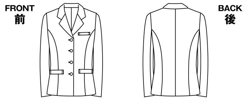 アルファピア UF4500R [通年]ジャケット [無地] ハンガーイラスト・線画