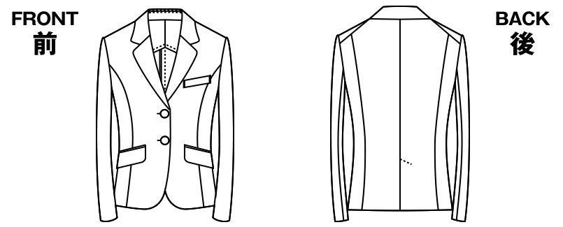 アルファピア UF4510 [秋冬用]ベーシック・ジャケット[無地] ハンガーイラスト・線画