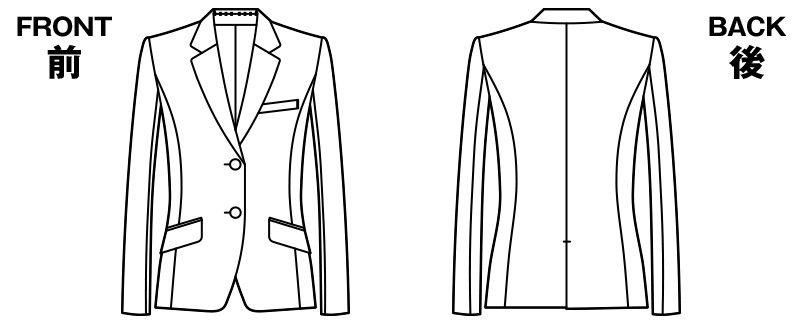 UF4516 アルファピア ジャケット テーラード 無地 ハンガーイラスト・線画