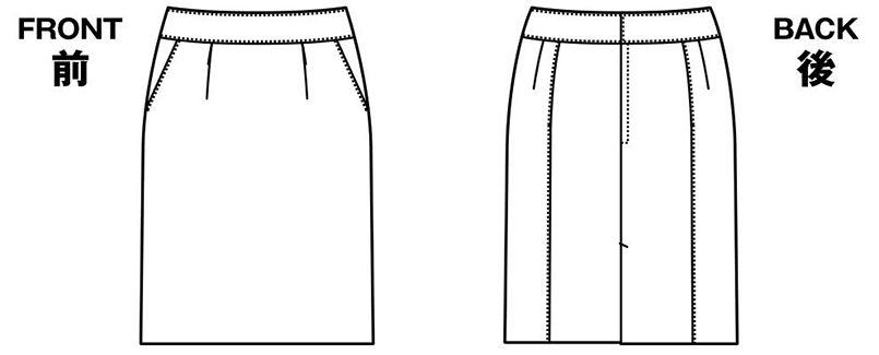 [在庫限り/返品交換不可]YT3304 ユキトリイ タイトスカート スイングドット ハンガーイラスト・線画