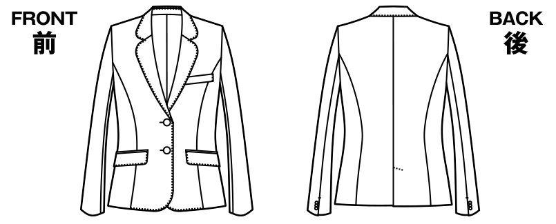 [在庫限り/返品交換不可]YT4304 ユキトリイ ジャケット スイングドット ハンガーイラスト・線画