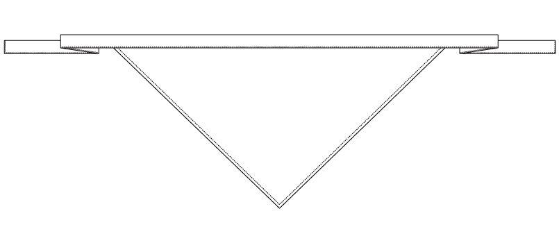 AS-09 チトセ(アルベ) ひも付三角巾 ハンガーイラスト・線画
