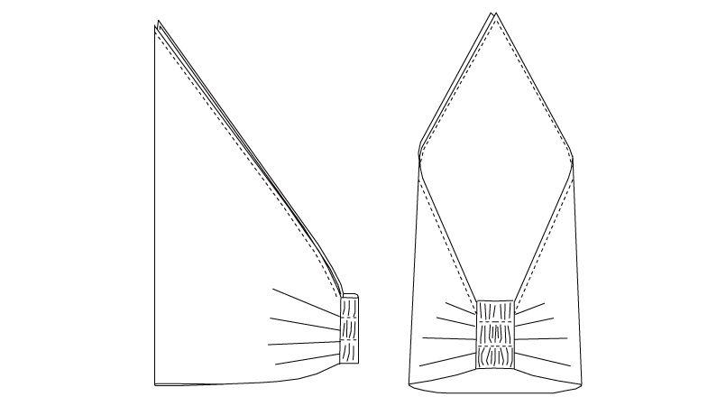 AS-5927 チトセ(アルベ) バンダナキャップ(男女兼用) ハンガーイラスト・線画
