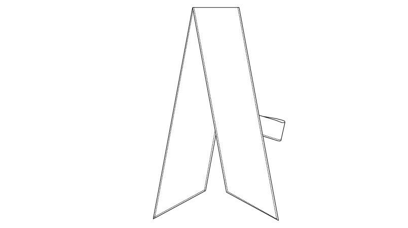 AS-6623 チトセ(アルベ) イージースカーフタイ ハンガーイラスト・線画