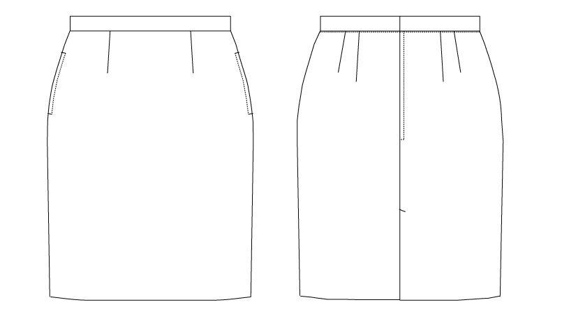 AS-7410 チトセ(アルベ) [通年]裏地付スカート ハンガーイラスト・線画