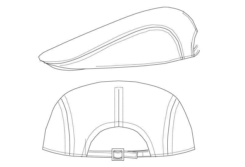 AS-7806 チトセ(アルベ) ハンチング帽 ハンガーイラスト・線画